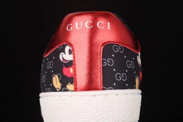 Giày gucci mickey màu đen gót 2 màu xanh đỏ