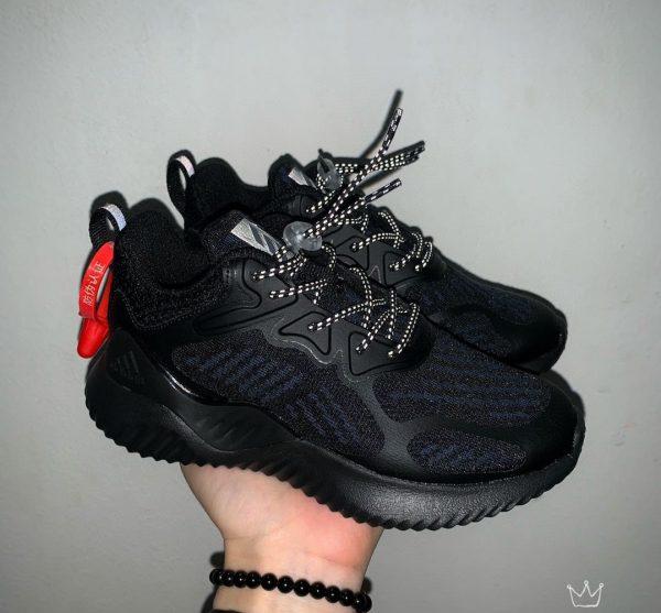 Giày Adidas AlphaBounce trẻ em full đen