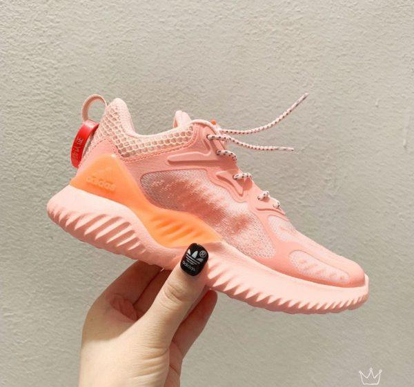 Giày Adidas AlphaBounce trẻ em màu hồng cam
