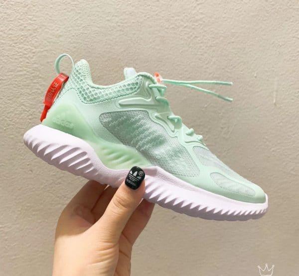Giày Adidas AlphaBounce trẻ em xanh bạc hà