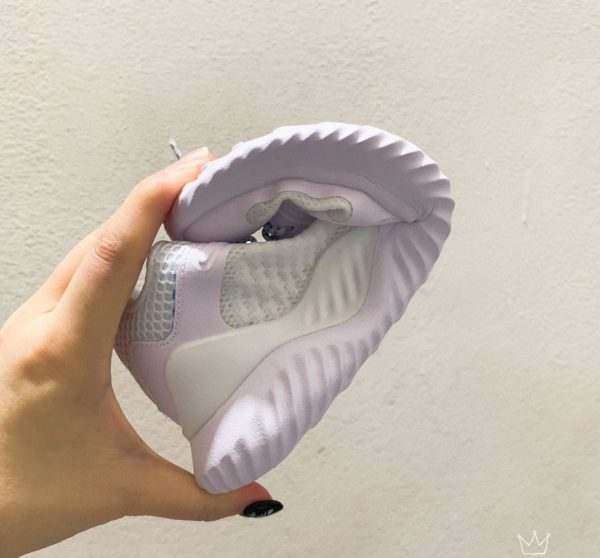 Giày Adidas AlphaBounce trẻ em full trắng