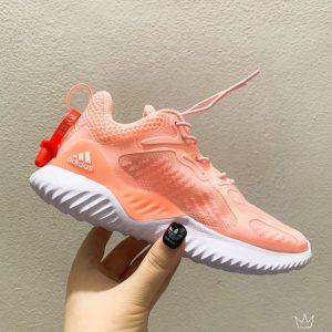 Giày Adidas AlphaBounce trẻ em màu hồng cam đế trắng