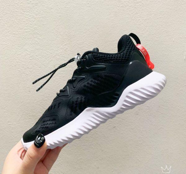 Giày Adidas AlphaBounce trẻ em màu đen đế trắng