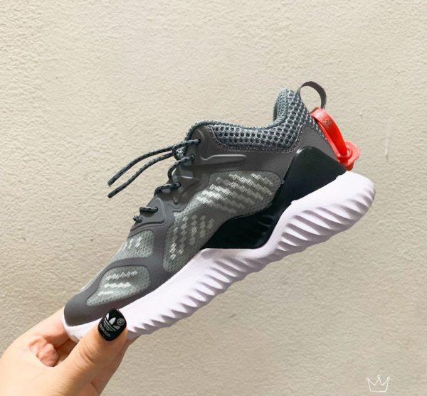 Giày Adidas AlphaBounce trẻ em màu ghi xám