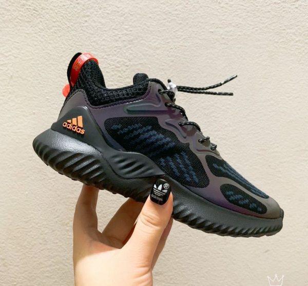 Giày Adidas AlphaBounce trẻ em màu nâu đen