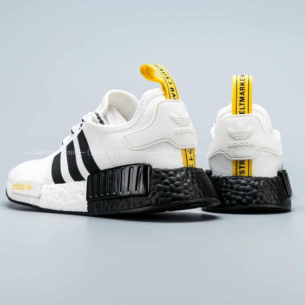 Giày Adidas NMD R1 trắng sọc đen siêu cấp