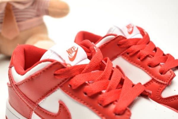 Giày trẻ em Nike SB Dunk Low Pro màu đỏ trắng