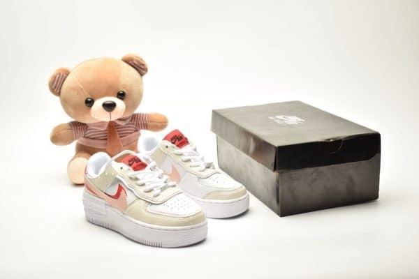 Giày trẻ em nike Air Force 1 Shadow trắng đỏ
