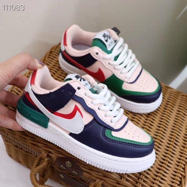 Giày trẻ em nike Air Force 1 Shadow xanh hồng