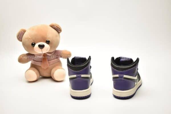 Giày trẻ em Jordan1 Retro High OG màu đen tím