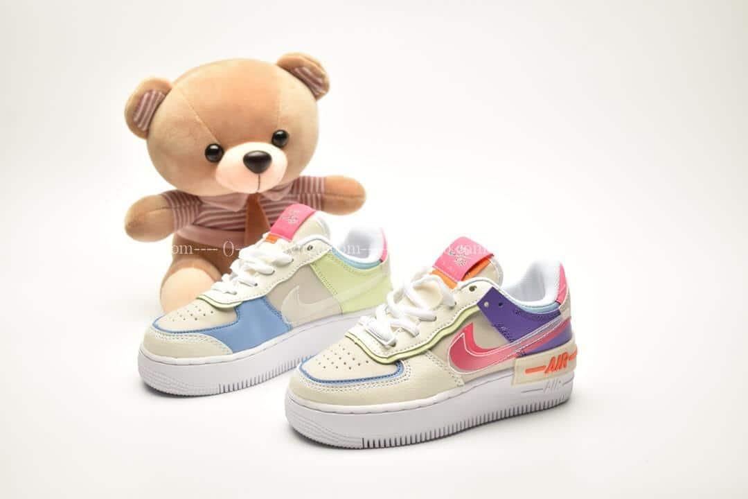 Giày trẻ em nike Air Force 1 Shadow màu sữa mix tím