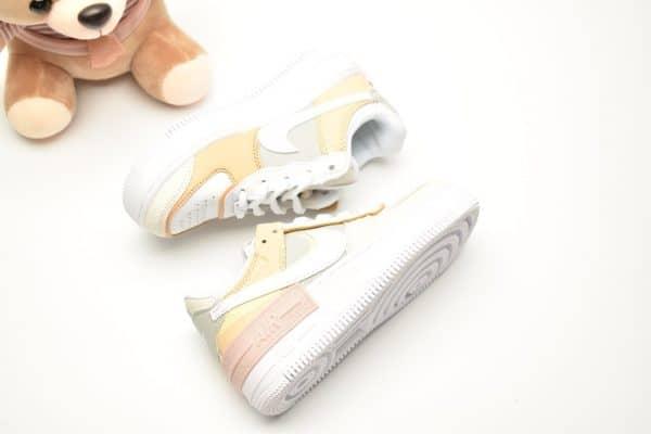Giày trẻ em nike Air Force 1 Shadow vàng nhạt