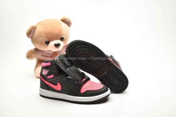 Giày trẻ em Jordan1 Retro High OG đen hồng