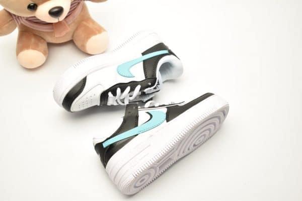 Giày trẻ em nike Air Force 1 Shadow đen swoosh xanh