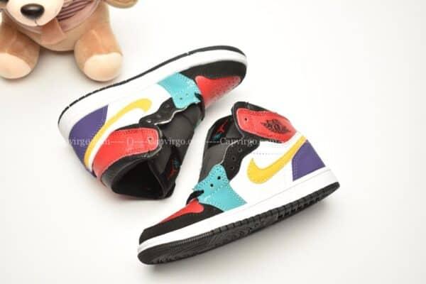 Giày trẻ em Jordan1 Retro High OG đen đỏ xanh