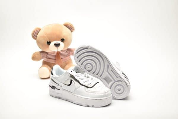 Giày trẻ em nike Air Force 1 Shadow trắng đen