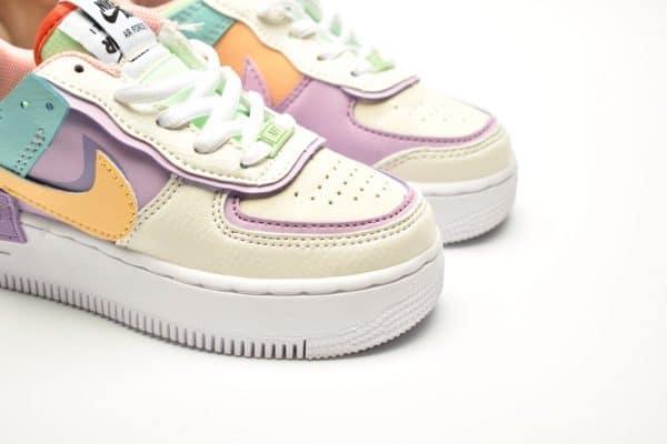 Giày trẻ em nike Air Force 1 Shadow màu trắng swoosh vàng