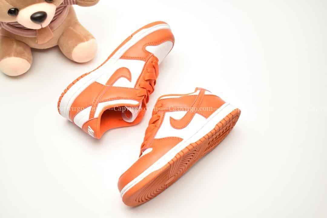 Giày trẻ em Nike SB Dunk Low Pro màu trắng cam