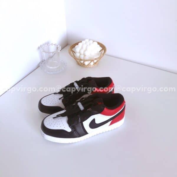 Giày air Jordan 1 Low trẻ em màu đỏ đen