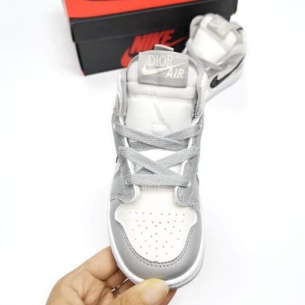 Giày nike Jordan trẻ em DIOR màu ghi