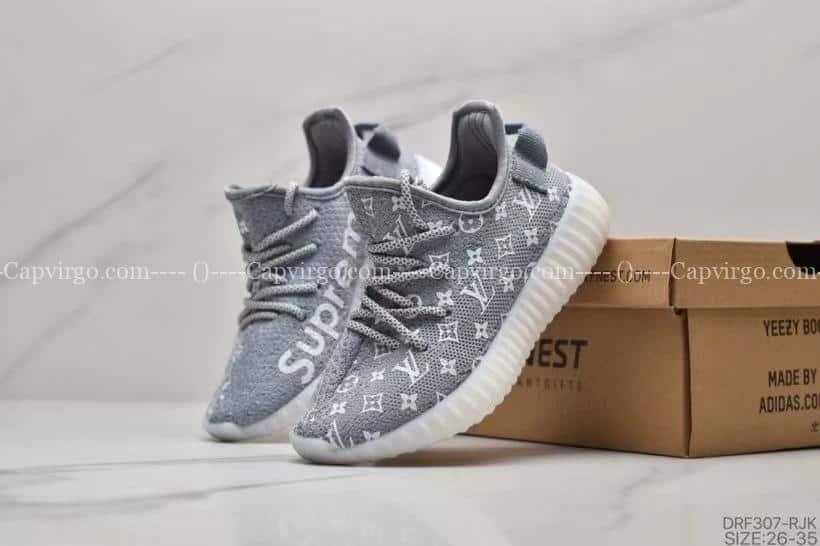 Giày adidas yeezy trẻ em LV x Supreme