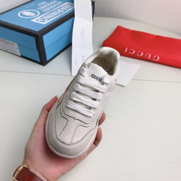 Giày Gucci trẻ em Rhyton glitter họa tiết GUCCI siêu cấp