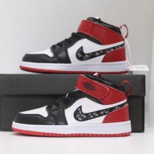 Giày nike Jordan trẻ em màu đen đỏ dán dính