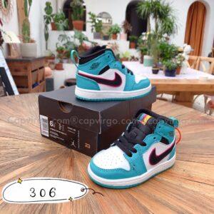 Giày air Jordan 1 trẻ em màu xanh ngọc