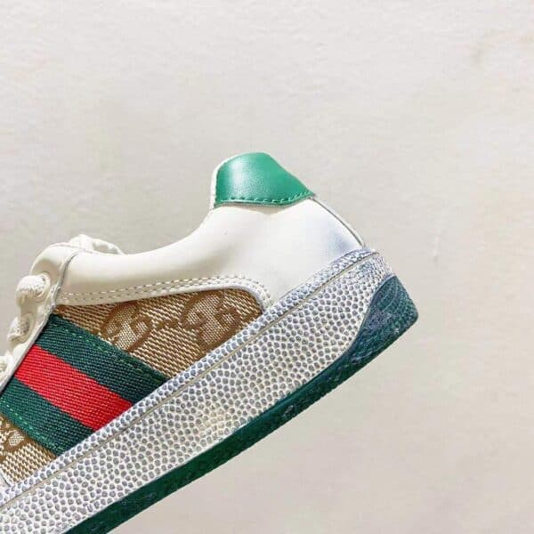 Giày Gucci trẻ em Embroidered xanh trắng