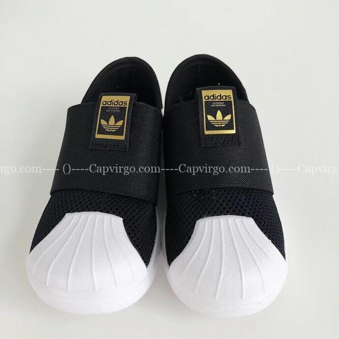 Giày adidas slip on trẻ em màu đen