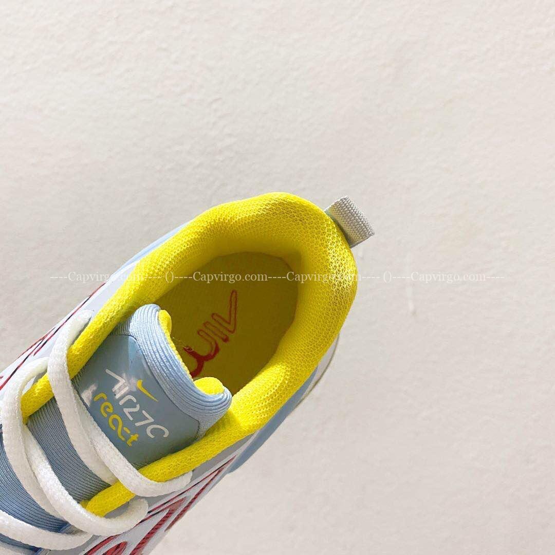 Giày trẻ em Nike air max 270 màu xanh đỏ