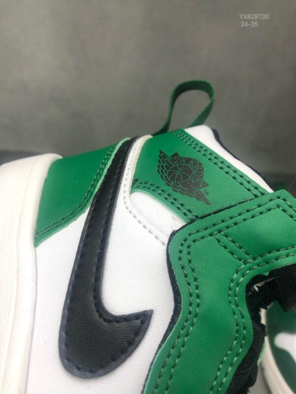 Giày air Jordan 1 trẻ em dán dính màu xanh lá