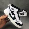 Giày air Jordan 1 trẻ em dán dính màu trắng đen