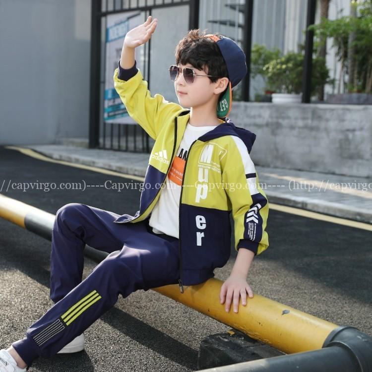 Bộ quần áo gió Adidas trẻ em