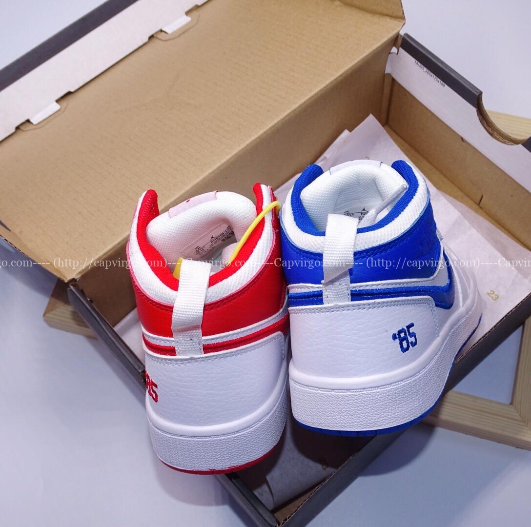 Giày air Jordan 1 trẻ em siêu cấp 2 màu xanh đỏ