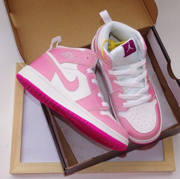 Giày air Jordan 1 trẻ em siêu cấp màu hồng nhạt