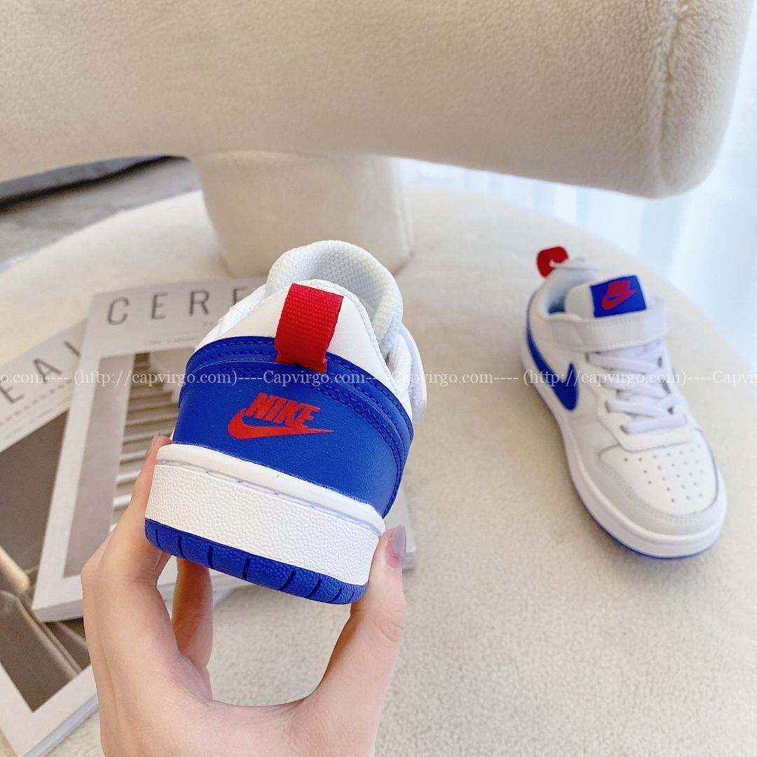 Giày trẻ em Nike Air Force One Tooling Low-Top màu trắng xanh