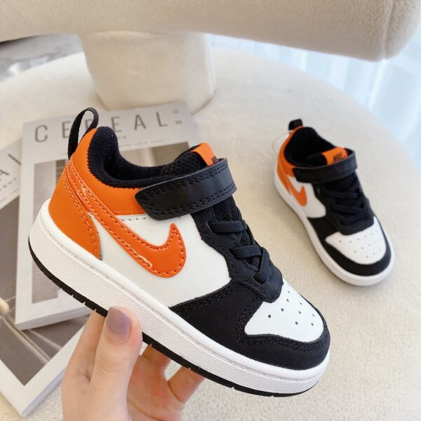 Giày trẻ em Nike Air Force One Tooling Low-Top Velcro Elastic màu cam đen