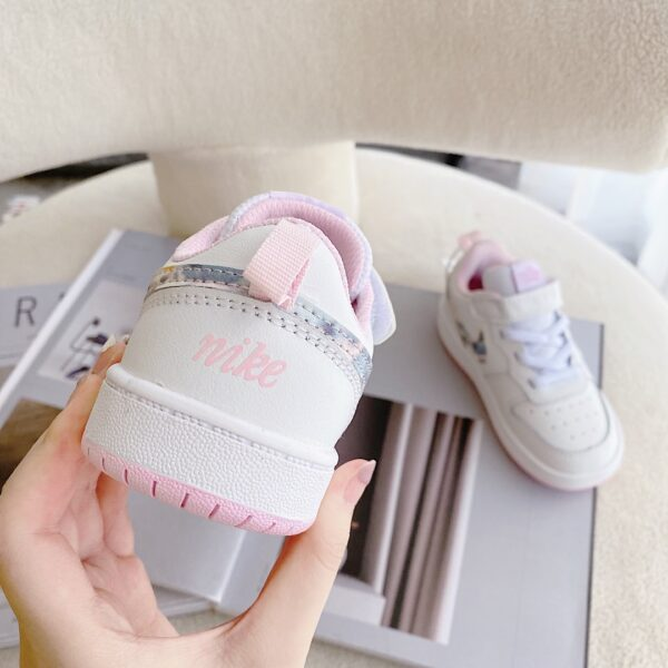 Giày trẻ em Nike Air Force One Tooling Low-Top Velcro Elastic màu trắng