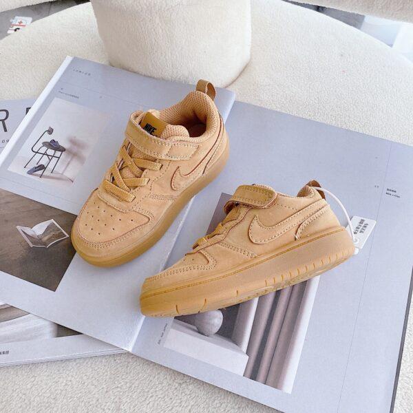 Giày trẻ em Nike Air Force One Tooling Low-Top Velcro Elastic màu nâu