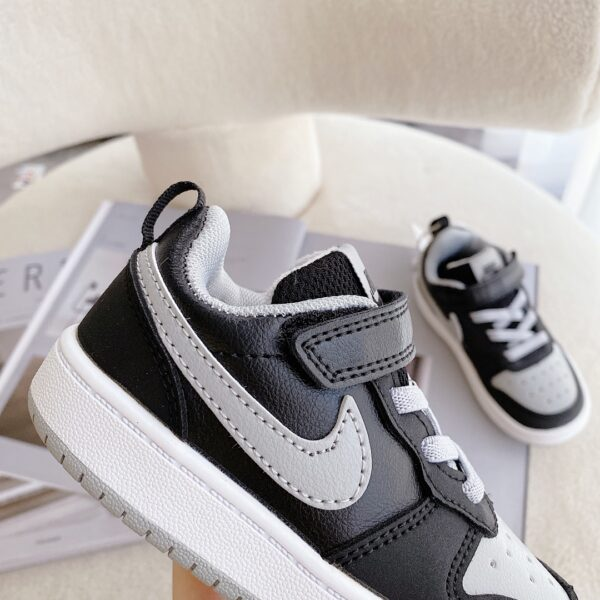 Giày trẻ em Nike Air Force One Tooling Low-Top Velcro Elastic màu đen ghi