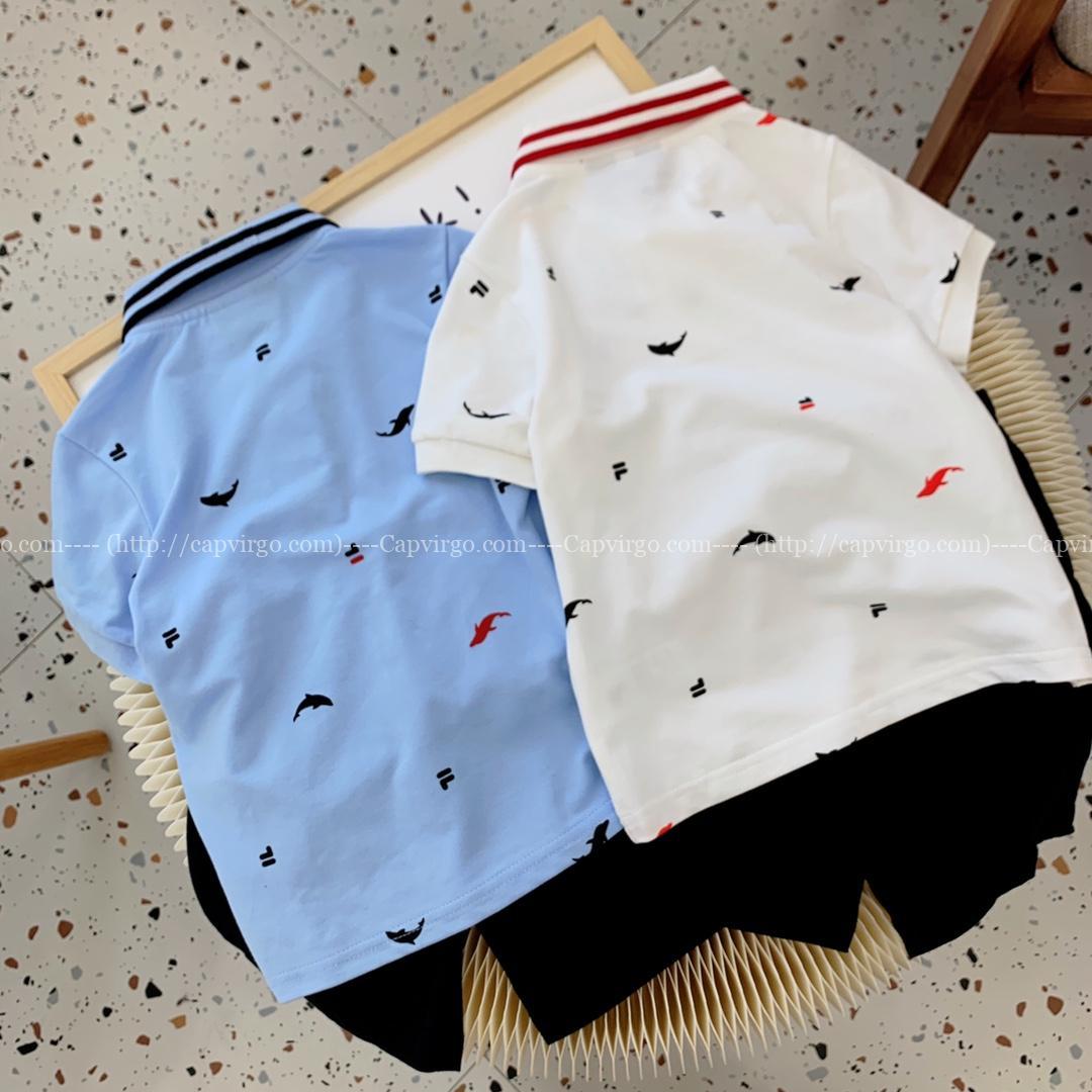 Bộ quần áo Polo Fila trẻ em họa tiết cá heo