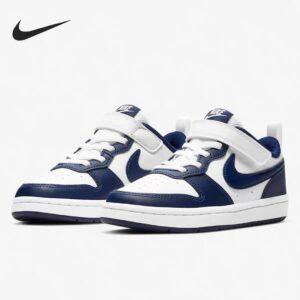 Giày trẻ em Nike Air Force One Tooling Low-Top Velcro Elastic màu xanh trắng