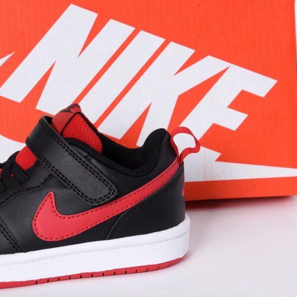 Giày trẻ em Nike Air Force One Tooling Low-Top Velcro Elastic màu đỏ đen