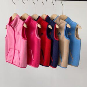 Áo khoác gile adidas lông cừu trẻ em