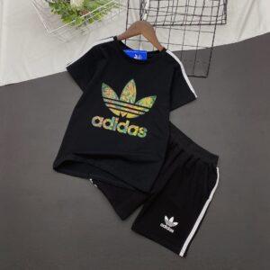 Bộ quần áo adidas trẻ em cộc tay