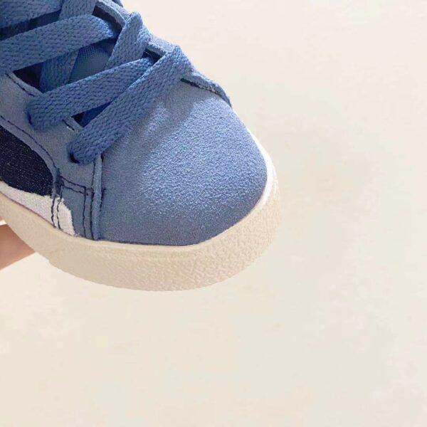 Giày nike trẻ em Traiblazer video game xanh logo trang