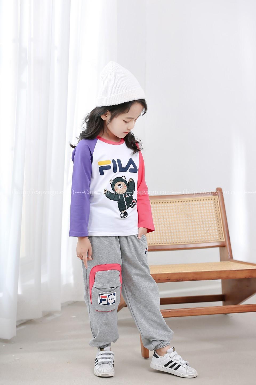 Bộ quần áo mùa thu fila trẻ em