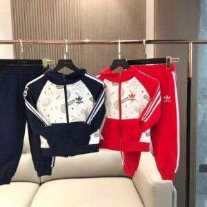 Bộ quần áo nỉ Adidas trẻ em mùa thu