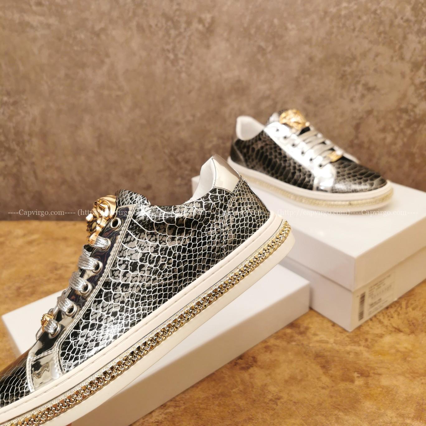 Giày nam Versace siêu cấp hoạt tiết da rắn